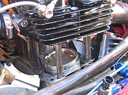 Damaged Top bike Engine