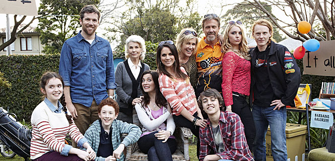 The cast of Upper Middle Bogan