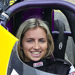 Jess Turner – a bright young star ready to burn rubber