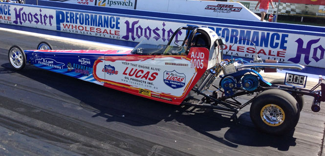 Jimboomba racer Dylan Leo is currently leading the charge in Diamond T Products Junior Dragster
